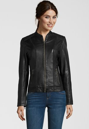 Leather jacket - black