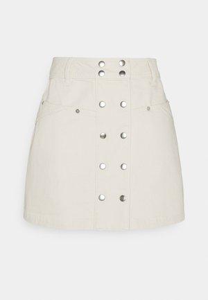 SKIRT - Mini skirt - natural
