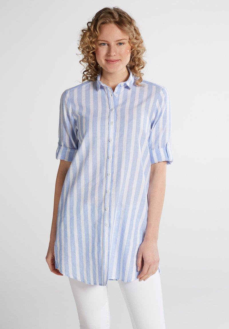 Eterna - MODERN  - Button-down blouse - hellblau/weiß