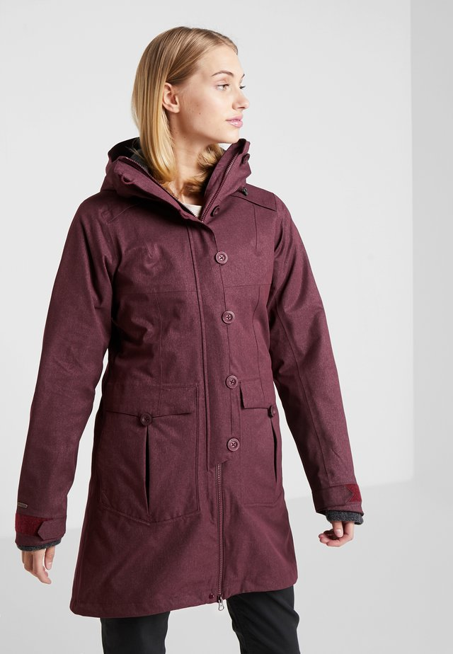 BJERKE 2-IN-1 LADY COAT - Parka - zinfandel red/solid charcoal