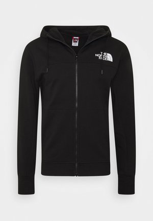 FULL ZIP HOODIE - Zip-up hoodie - black
