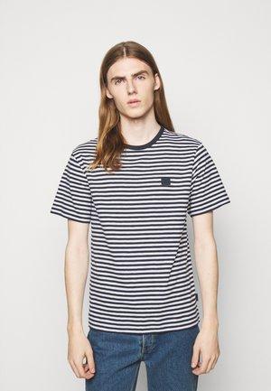 CHARLES STRIPE - T-Shirt print - navy