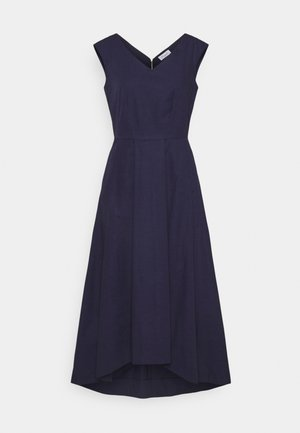 HIGH LOW PLEATED DRESS - Koktejlové šaty / šaty na párty - navy