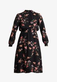 ONLY - ONLNOVA HIGHNECK DRESS - Shirt dress - black/red - 5