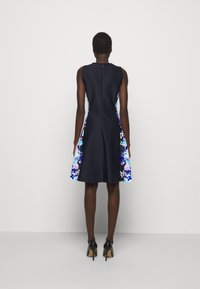 DKNY - FIT AND FLARE - Jersey dress - navy/cream/multi - 2