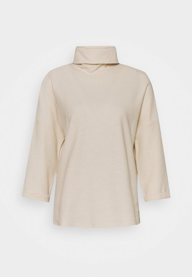 TURTLE NECK - Long sleeved top - soft creme beige