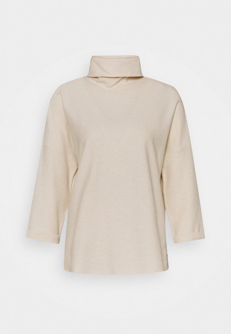 TOM TAILOR DENIM - TURTLE NECK - Long sleeved top - soft creme beige