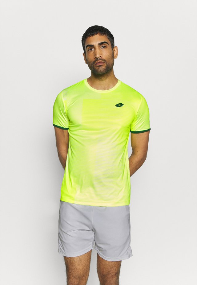 TOP TEN TEE - T-shirt imprimé - yellow neon