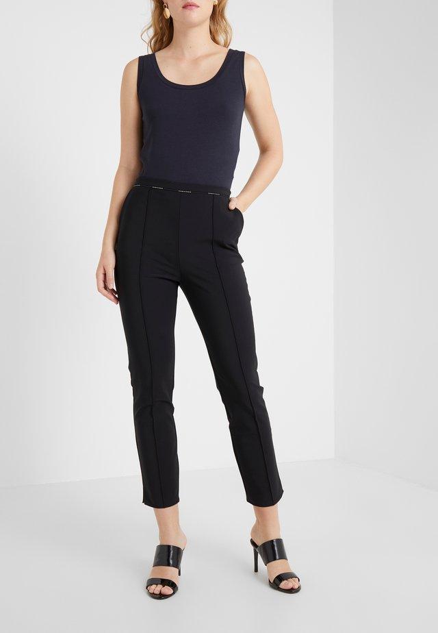 Spodnie materiałowe - nero