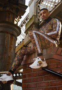 Ed Hardy - TIGER CROUCH BAROQUE TRACK PANT - Tracksuit bottoms - black - 1