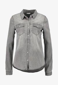 Vila - Button-down blouse - grey - 3