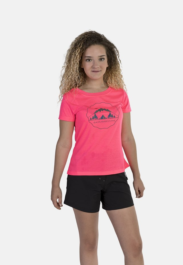 T-shirt con stampa - diva pink
