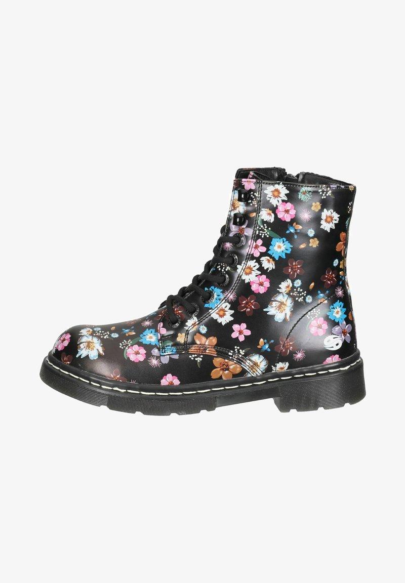 DOCKERS - Lace-up ankle boots - schwarz/orange