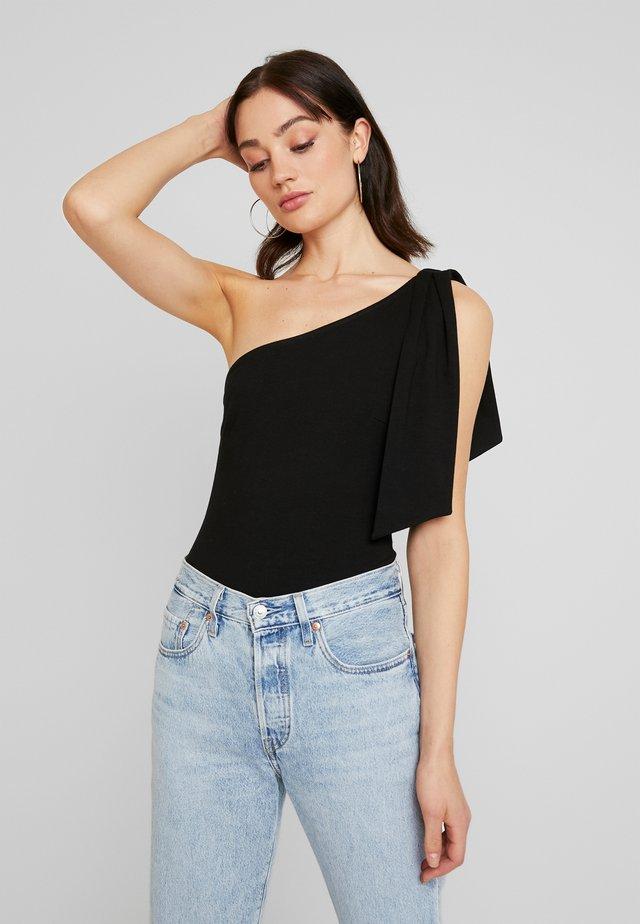 ONE SHOULDER BODYSUIT - T-shirts print - black