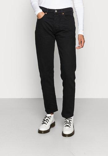 501® CROP - Straight leg jeans - black heart