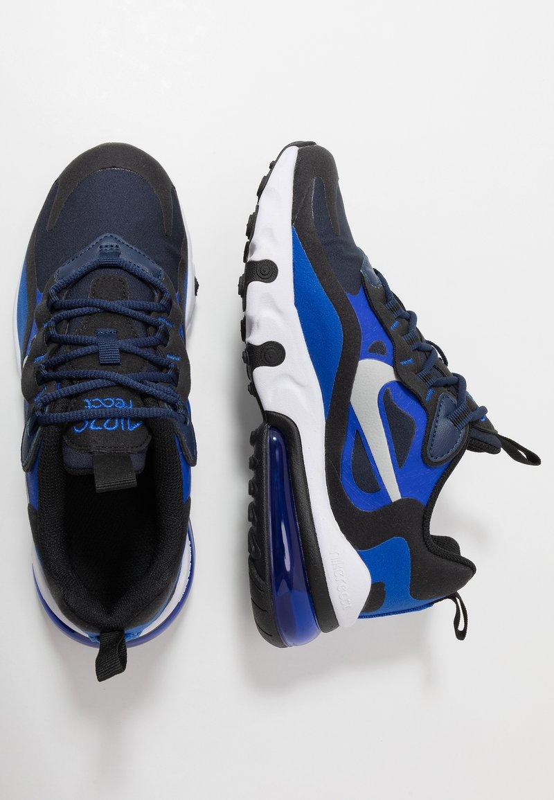 Nike Sportswear - AIR MAX 270 REACT - Sneakers basse - midnight navy/metallic silver/racer blue/black