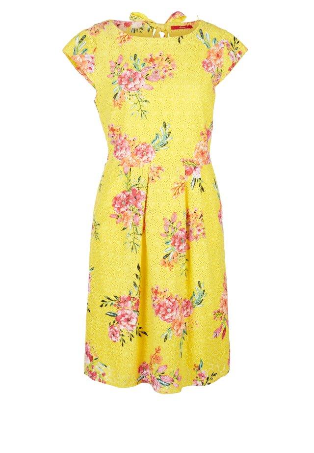 Korte jurk - yellow aop