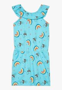 Lemon Beret - SMALL GIRLS DRESS - Žerzejové šaty - bachelor button - 0