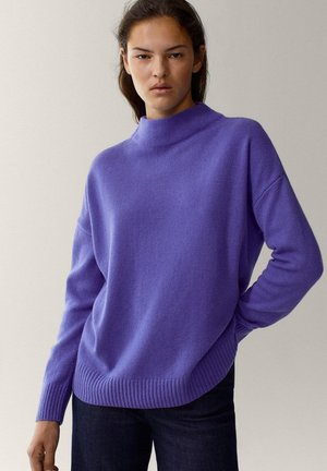 MIT STEHKRAGEN - Jumper - dark purple
