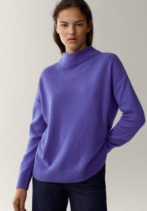 MIT STEHKRAGEN - Trui - dark purple