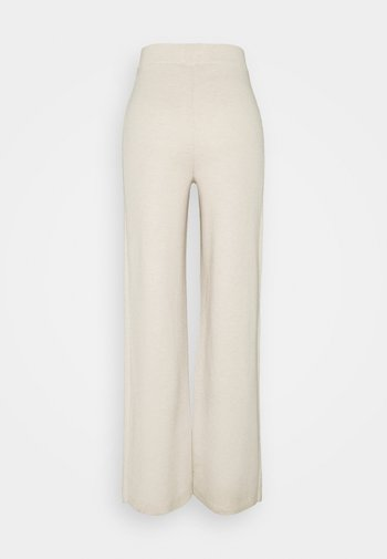 CHARLENA - Trousers - pearl mélange