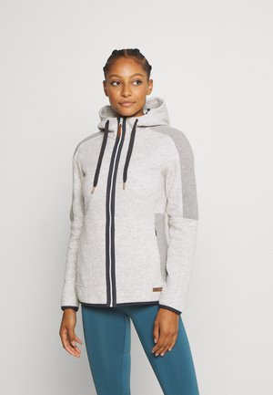 WOMAN JACKET FIX HOOD - Fleece jacket - white
