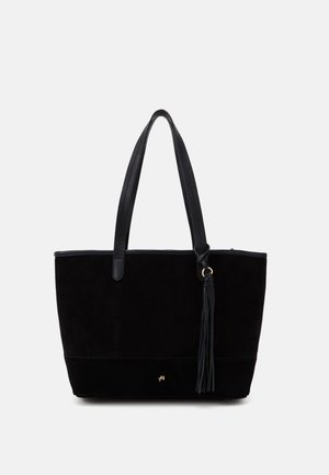 LEATHER - Shopper - black