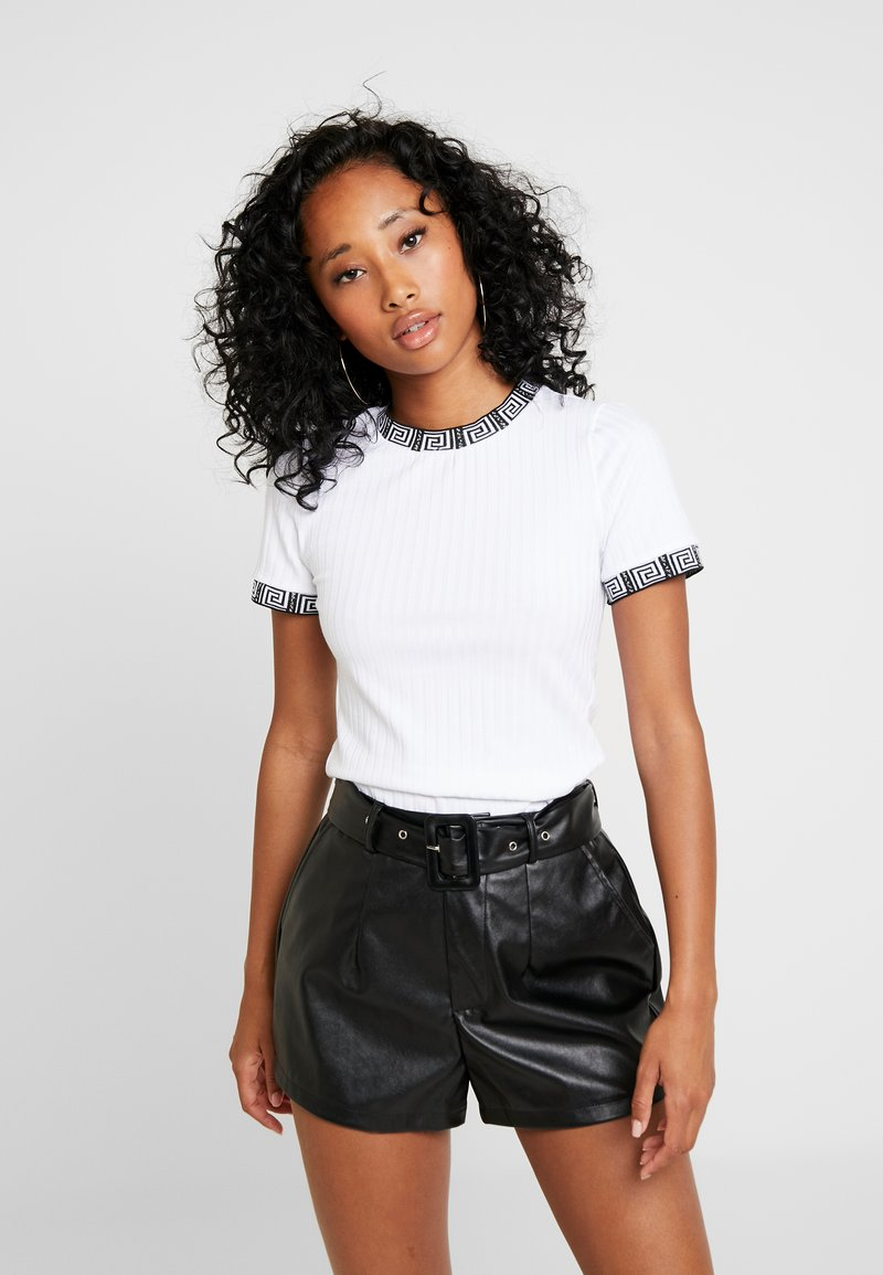 River Island - Print T-shirt - white