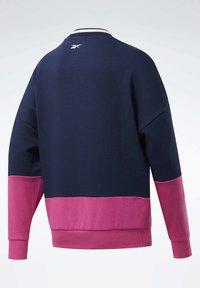 Reebok - TRAINING ESSENTIALS LOGO CREW SWEATSHIRT - Sweatshirt - blue - 7