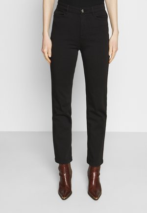 SATEEN - Straight leg jeans - black