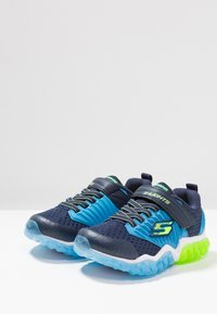 Skechers - RAPID FLASH - Tenisky - navy/blue/lime - 2