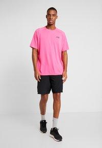 Under Armour - TECH TEE - Print T-shirt - pink surge/black - 1