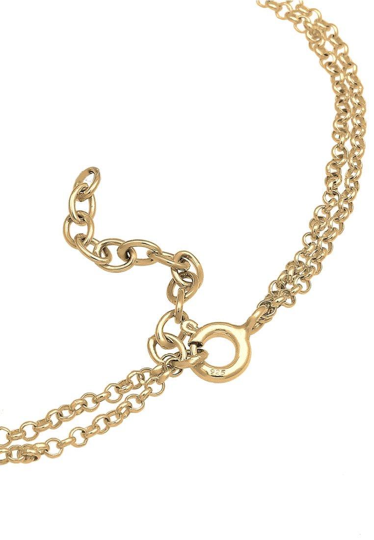 Elli Herz Symbol Love Trio Layer - Armband Gold-coloured/gold