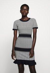 Milly - STRIPED WAVE DRESS - Shift dress - navy multi - 0
