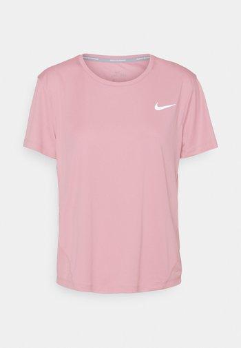 MILER - Print T-shirt - pink glaze/reflective silver