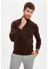 DeFacto - Stickad tröja - brown - 3