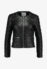 JDY - JDYFIA QUILT JACKET - Faux leather jacket - black - 5