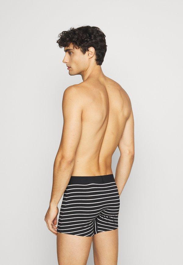 Levi's® MEN SOLID BASIC VINTAGE STRIPE 4 PACK - Panty - black/white/czarny Odzież Męska KUNY