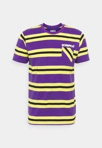STAPLE PIGEON - STRIPED POCKET TEE UNISEX - Print T-shirt - yellow - 4