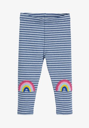 BLUE RAINBOW KNEE LEGGINGS (3MTHS-7YRS) - Leggings - Trousers - blue