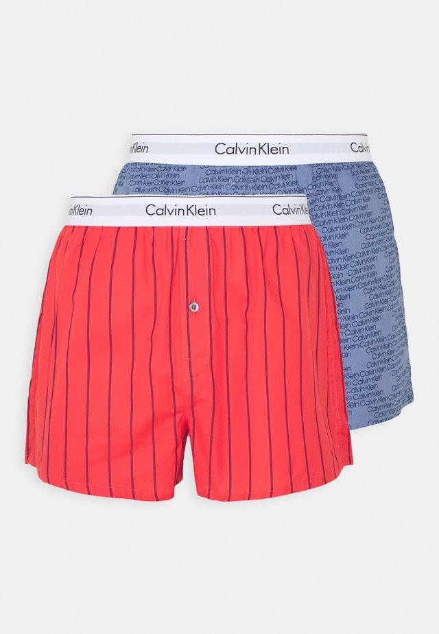 SLIM FIT 2 PACK - Boxer shorts - orange