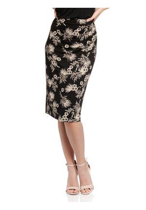 TROPICAL HAWAII - Pencil skirt - schwarz allover