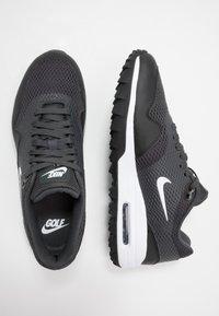 Nike Golf - AIR MAX 1 G - Golf shoes - black/white/anthracite - 1