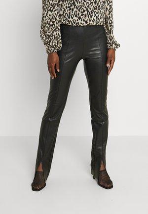 ONLPAPAYA FAUX LEATHER PANT  - Trousers - black