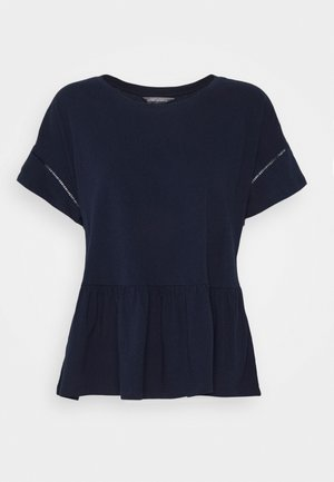 PEPLUM TEE - Print T-shirt - preppy navy