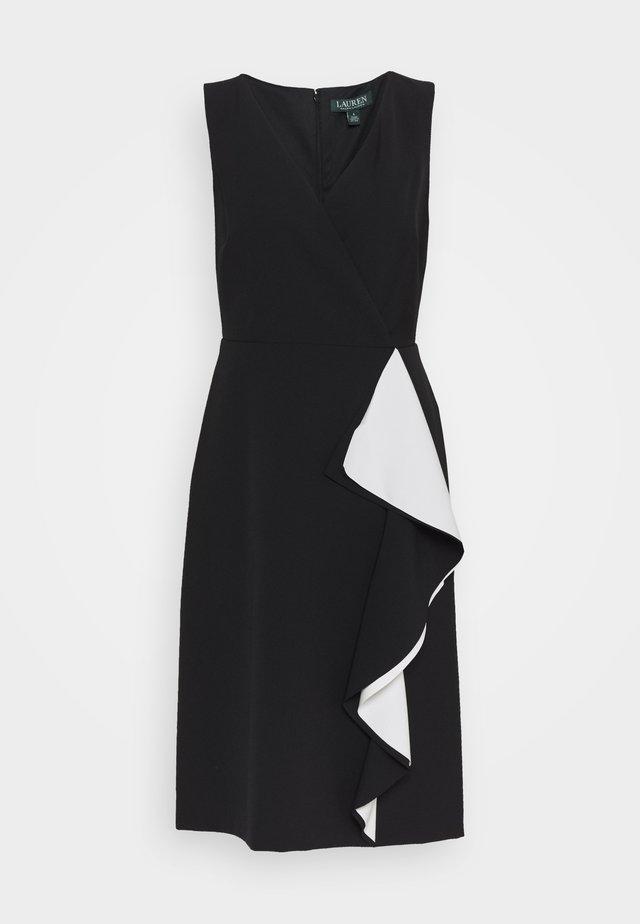 POLISHED 2-TONE DRESS - Denní šaty - black/lauren