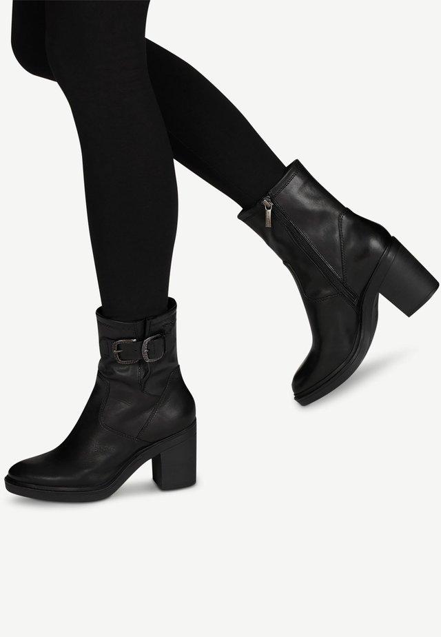 Hoge hakken - black leather