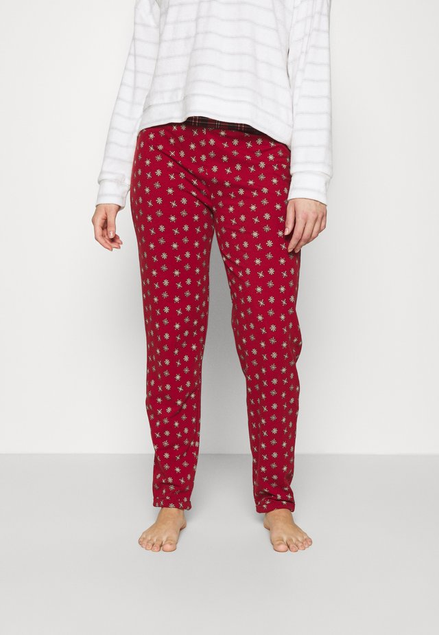 HOSE LANG PYJAMA PARTY - Pyjamahousut/-shortsit - red snowflake