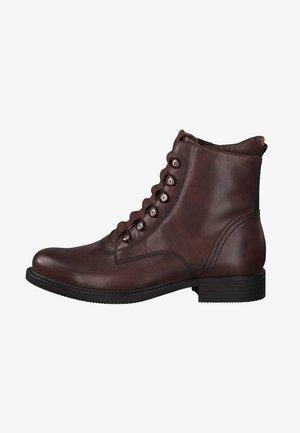 Ankle boots - mahogany
