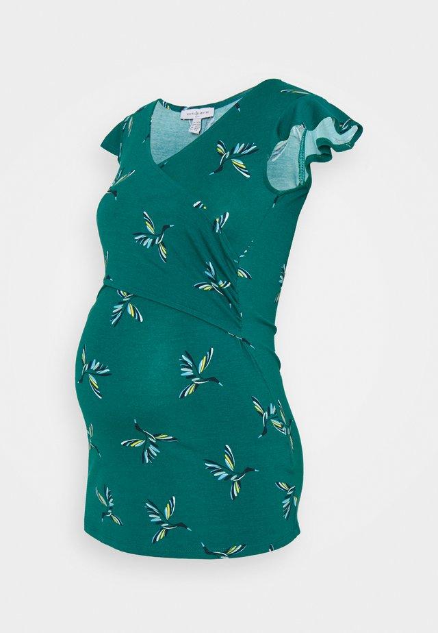 FRANCINE - T-shirt med print - green/blue